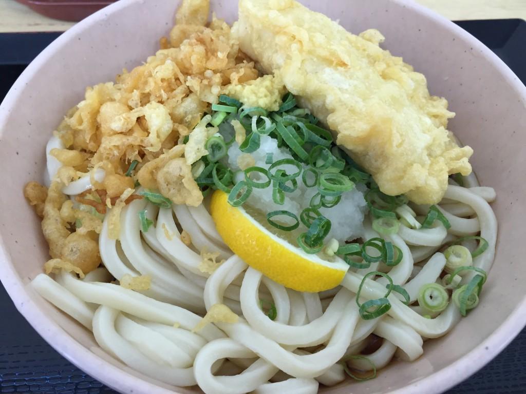 ぶっかけうどん 高野豆腐の天ぷら