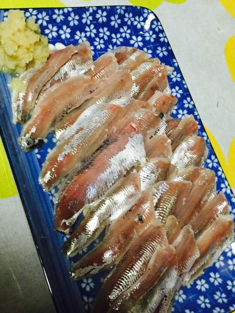 イワシの刺身 酢〆