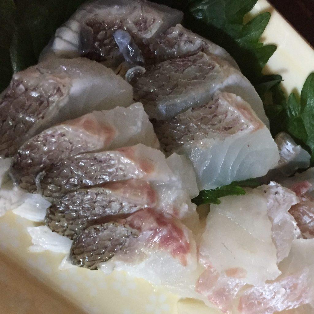 鯛の刺身 松皮造り