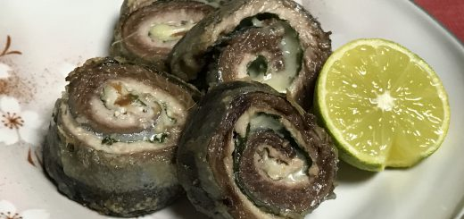 秋刀魚の梅チーズ巻き